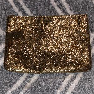 Gold Glitter Kate Spade Clutch